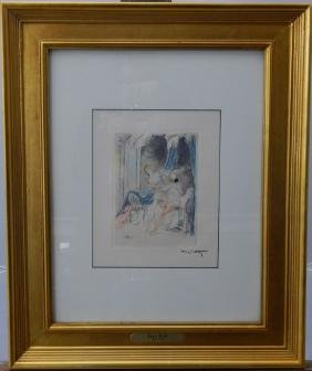 "Louis Icart ""reluctant Lover"" Etching"
