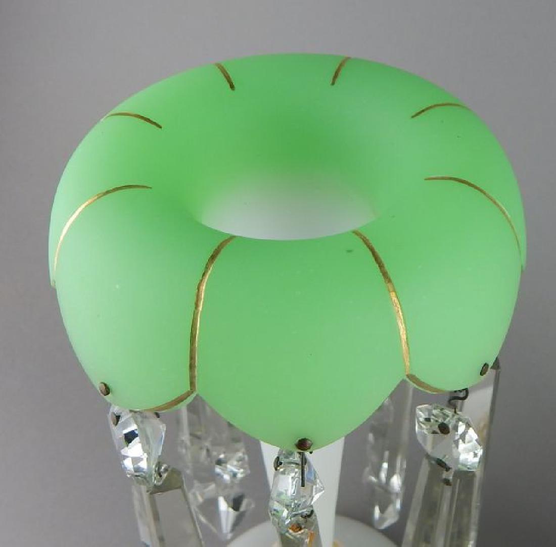 Pair of Bohemian Glass Luster Lamps - 3