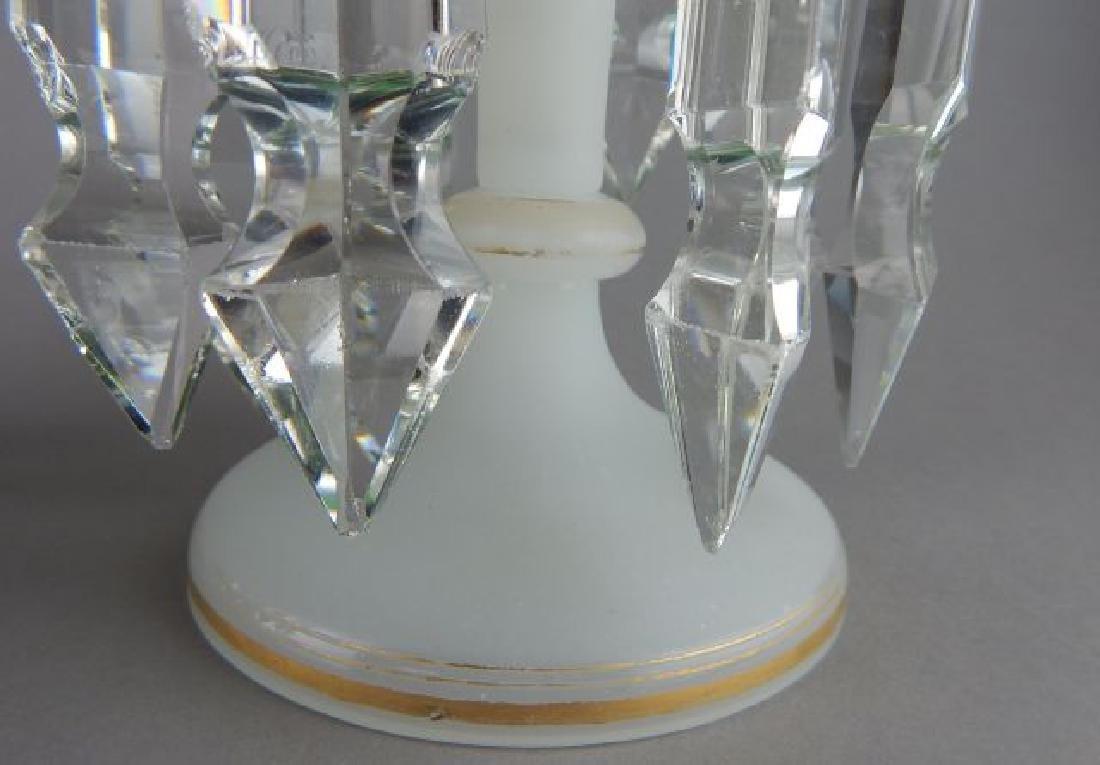 Pair of Bohemian Glass Luster Lamps - 4