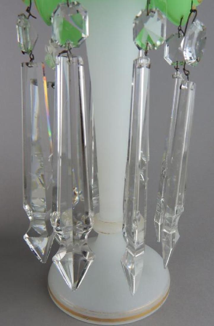 Pair of Bohemian Glass Luster Lamps - 5