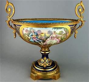 19th Century Cobalt Sevres Porcelain Center Bowl