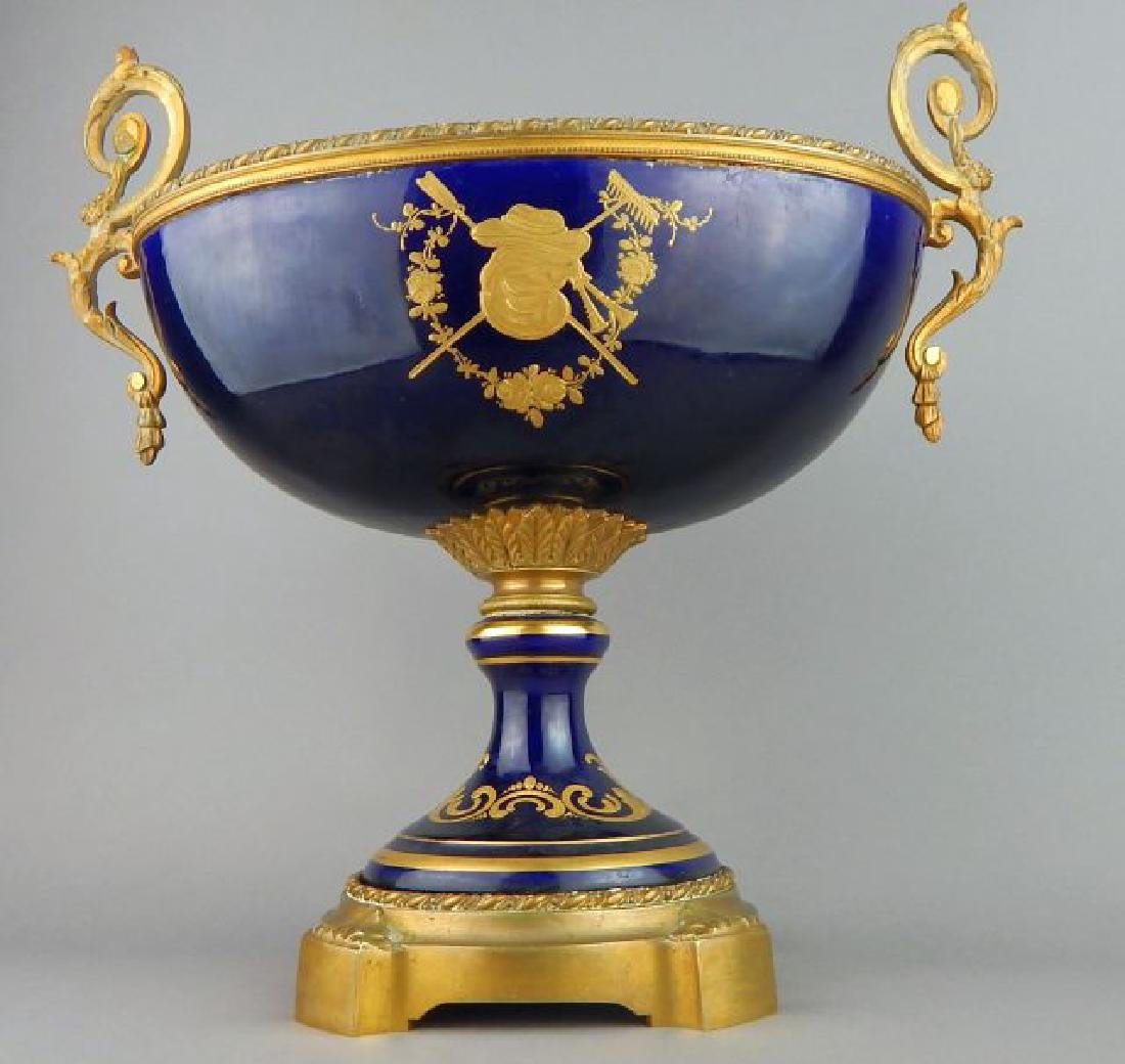 19th Century Cobalt Sevres Porcelain Center Bowl - 6