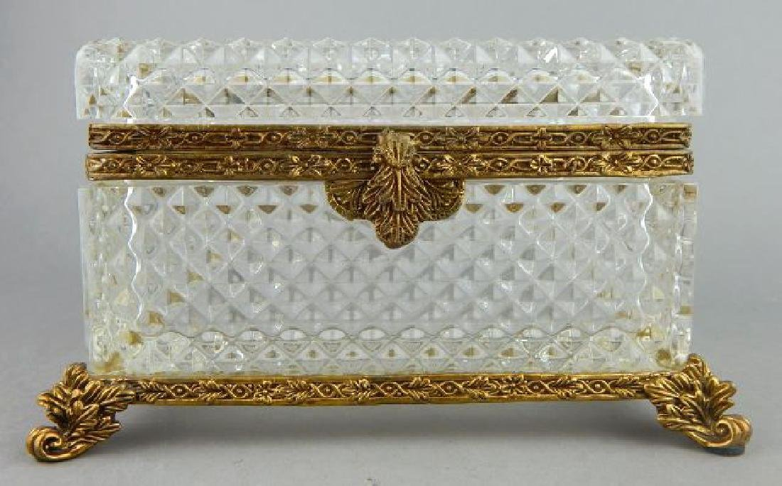 Dore Bronze Mounted Baccarat Crystal Box