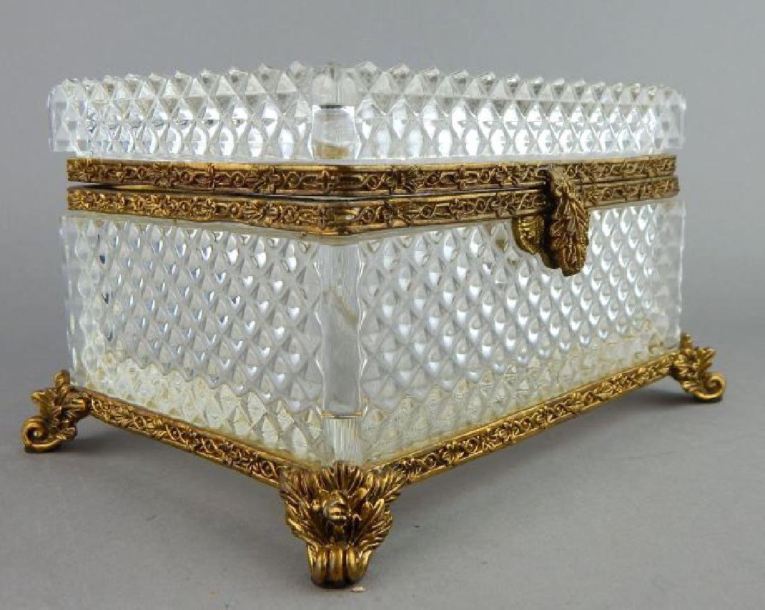 Dore Bronze Mounted Baccarat Crystal Box - 2