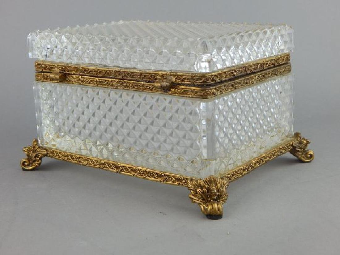 Dore Bronze Mounted Baccarat Crystal Box - 4