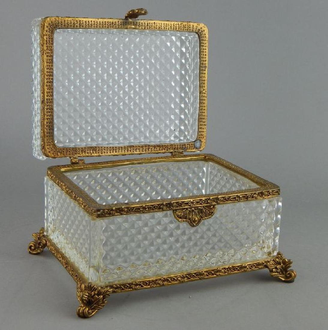Dore Bronze Mounted Baccarat Crystal Box - 5