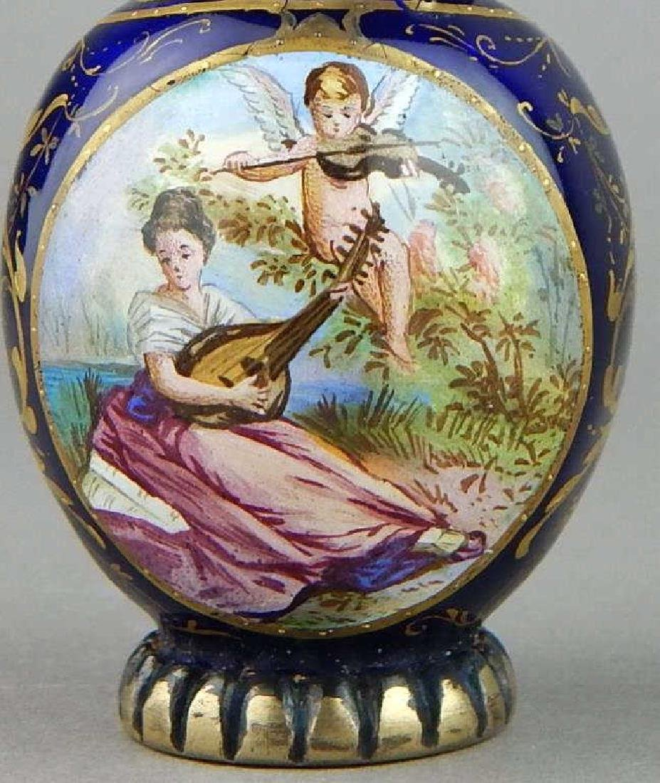 19th Century Viennese Enamel and Silver Perfume - 2