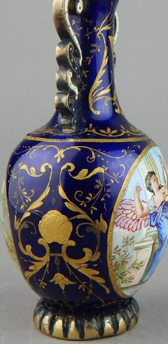 19th Century Viennese Enamel and Silver Perfume - 5