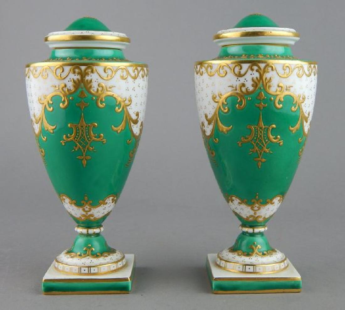 Pair of Miniature 19th Century English Vases