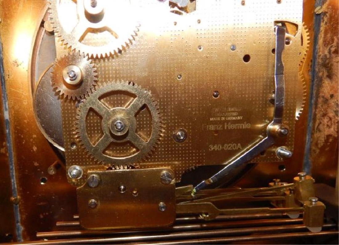 24kt Dore Bronze Jeweled Pagoda Mantle Clock - 7