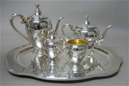 Sterling Silver 5pc. Tea Service with Tray