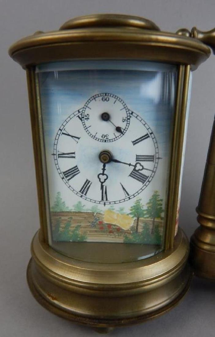 Bronze Double Barometer & Thermometer 8-Day Clock - 2