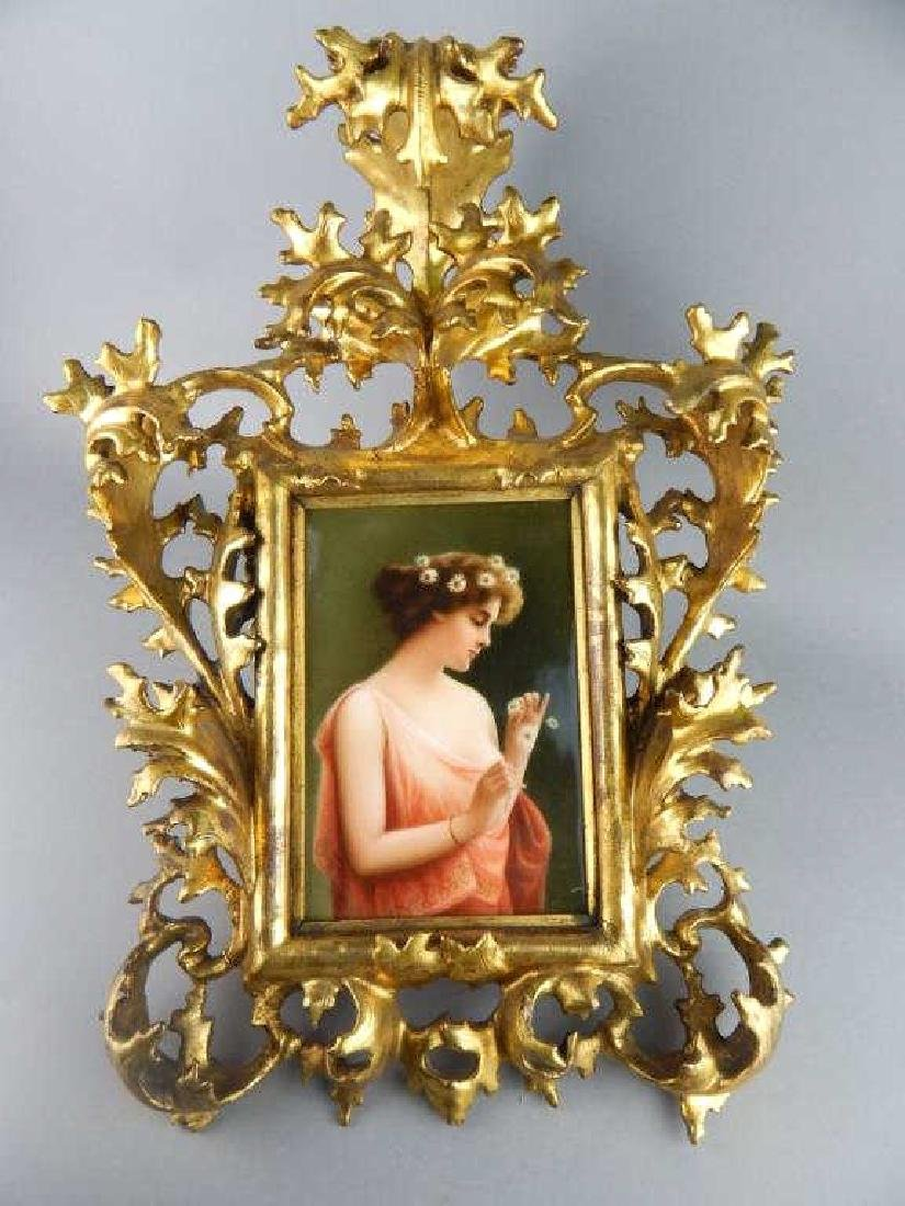 19th Century KPM Porcelain Portrait Plaque