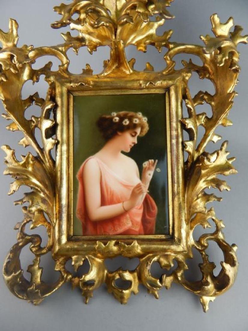 19th Century KPM Porcelain Portrait Plaque - 2