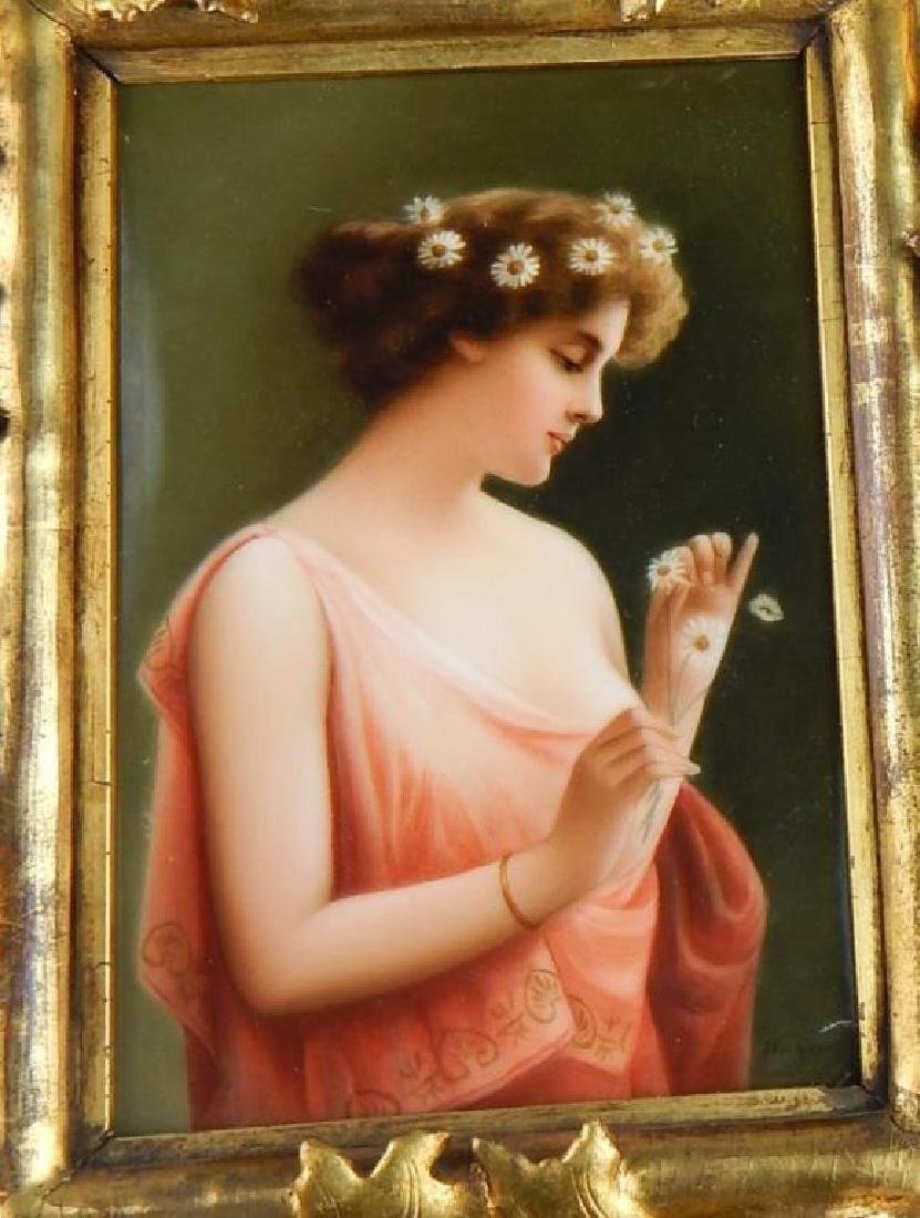 19th Century KPM Porcelain Portrait Plaque - 3
