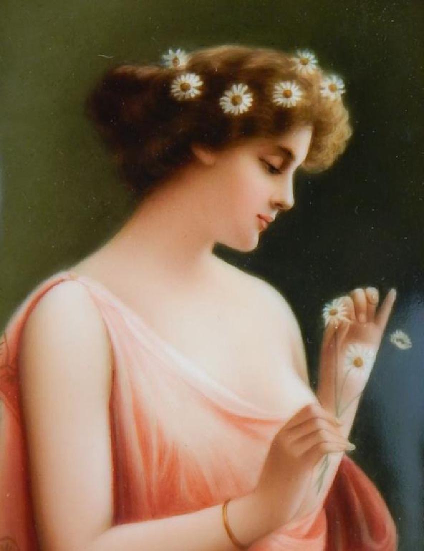 19th Century KPM Porcelain Portrait Plaque - 4