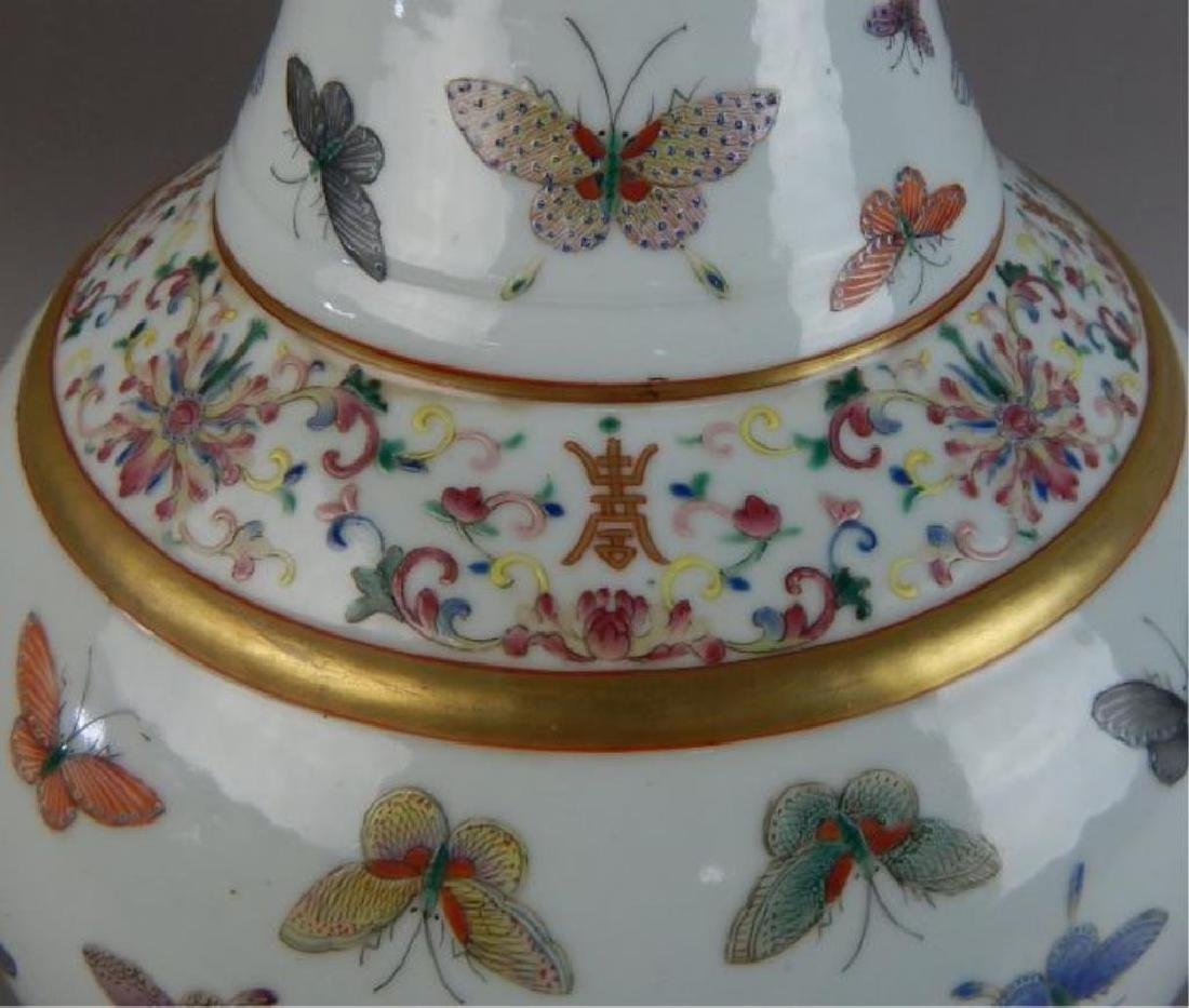 19th C Chinese Porcelain Imperial Vase - 5
