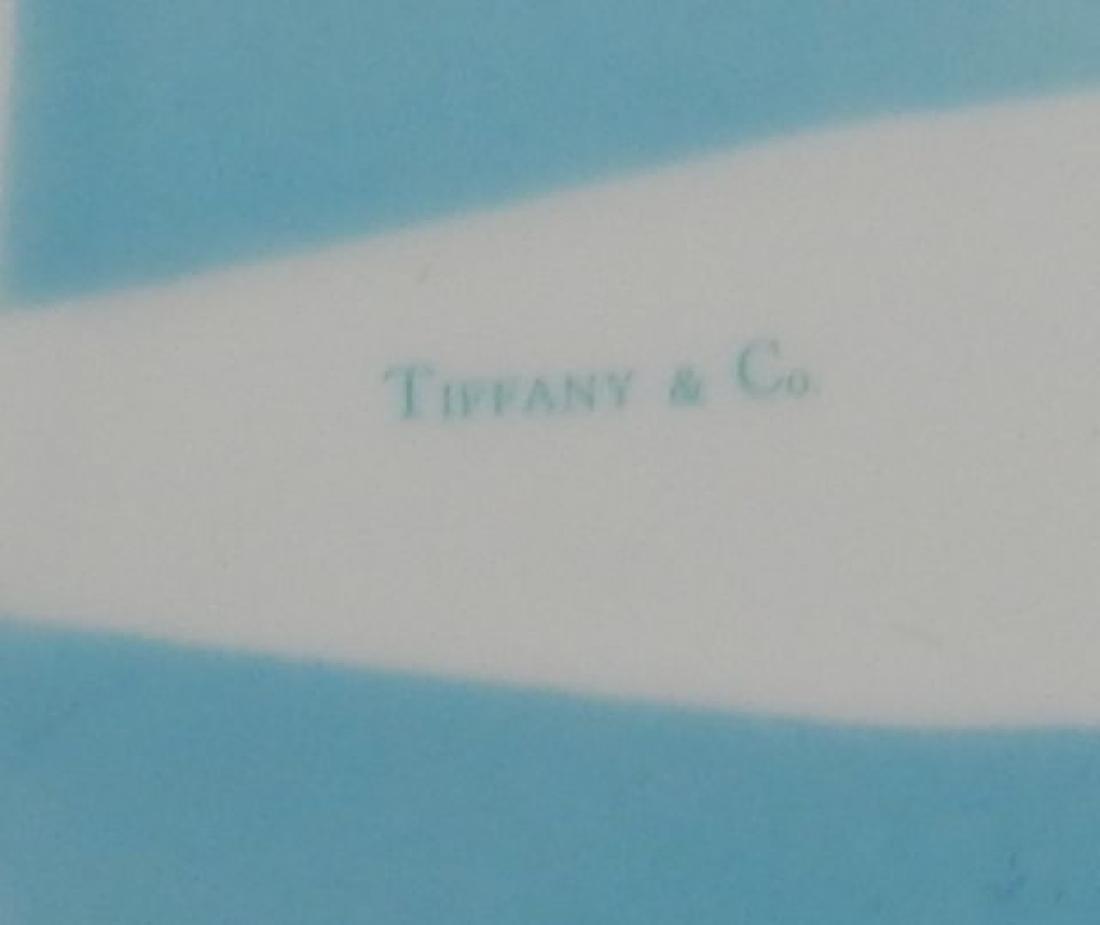Tiffany Aqua Porcelain Box with Ribbon - 7