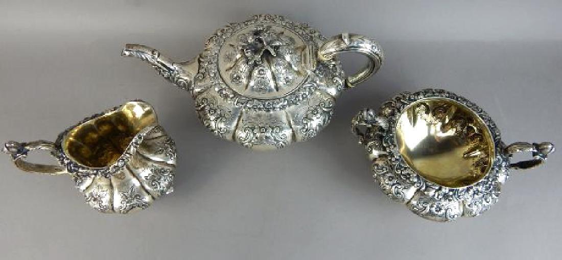 English Sterling Silver Tea Set - 2