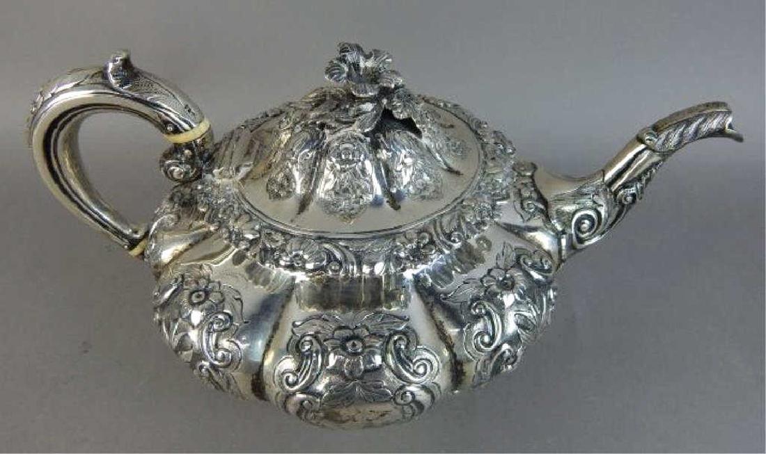 English Sterling Silver Tea Set - 3