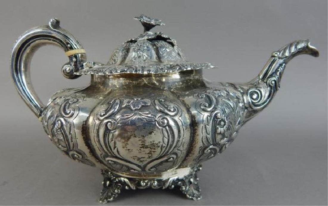 English Sterling Silver Tea Set - 4