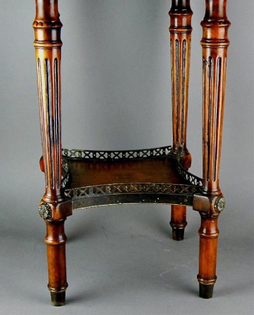 Quality Italian Leather Top Cabinet Side Table - 3