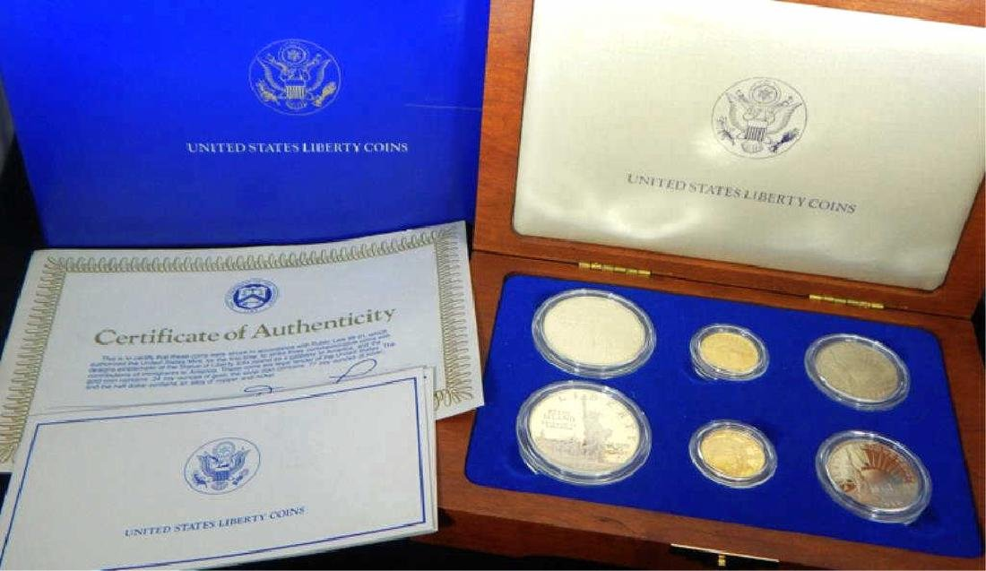1986 U.S. Statue of Liberty Coin Proof Set