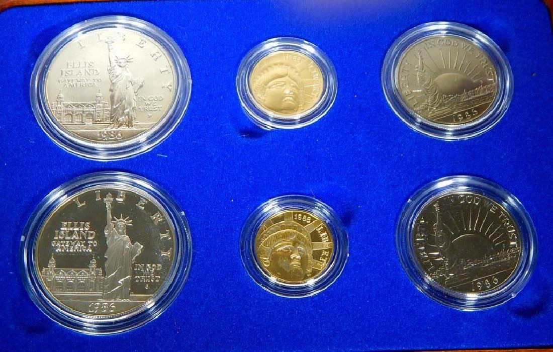 1986 U.S. Statue of Liberty Coin Proof Set - 3