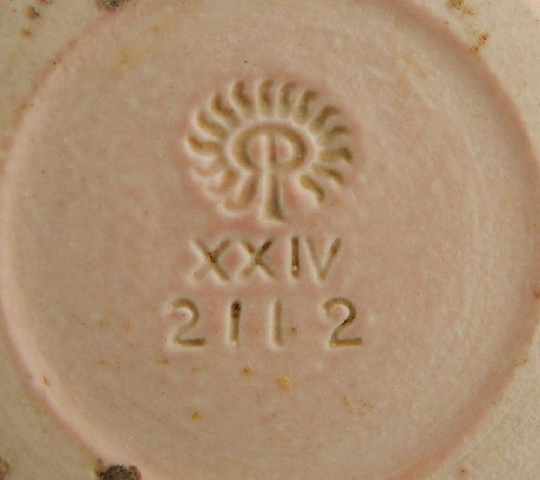 Signed Rookwood 1924 Pink Pottery Vase - 3