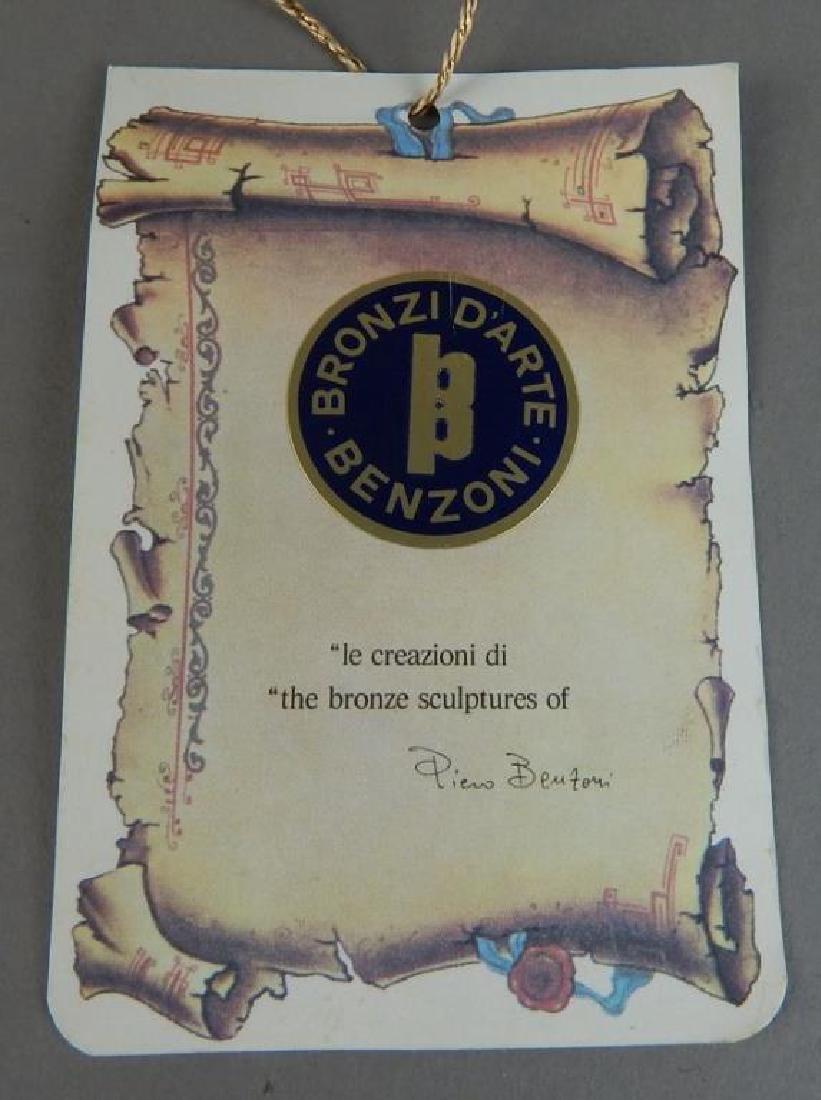 Piero Benzoni Silver & Gold Over Bronze Sclupture - 10