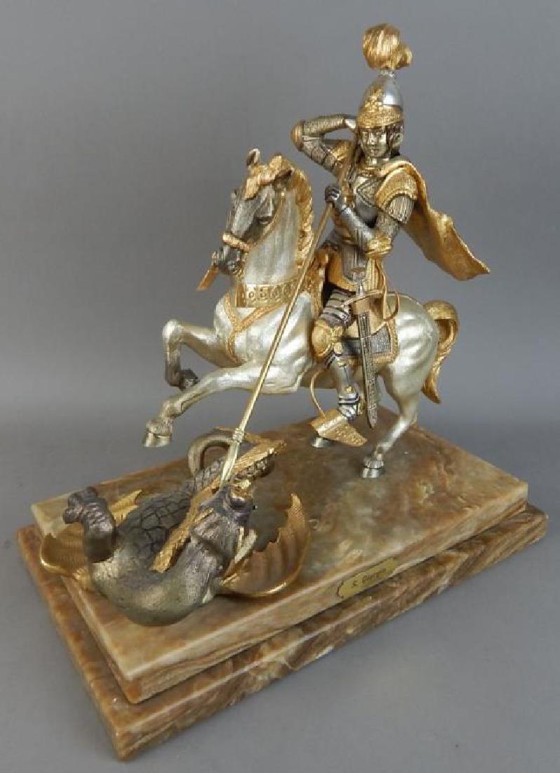 Piero Benzoni Silver & Gold Over Bronze Sclupture - 2