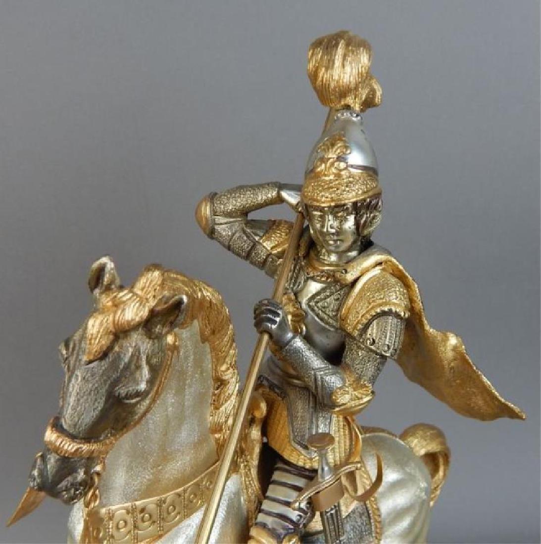 Piero Benzoni Silver & Gold Over Bronze Sclupture - 3