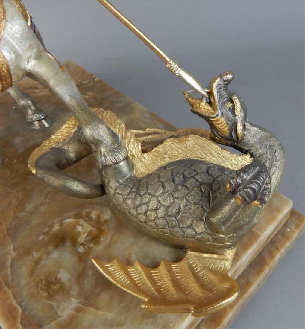 Piero Benzoni Silver & Gold Over Bronze Sclupture - 4