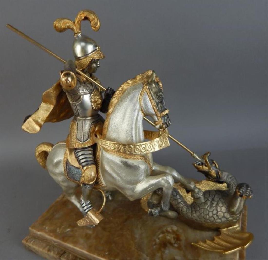 Piero Benzoni Silver & Gold Over Bronze Sclupture - 5