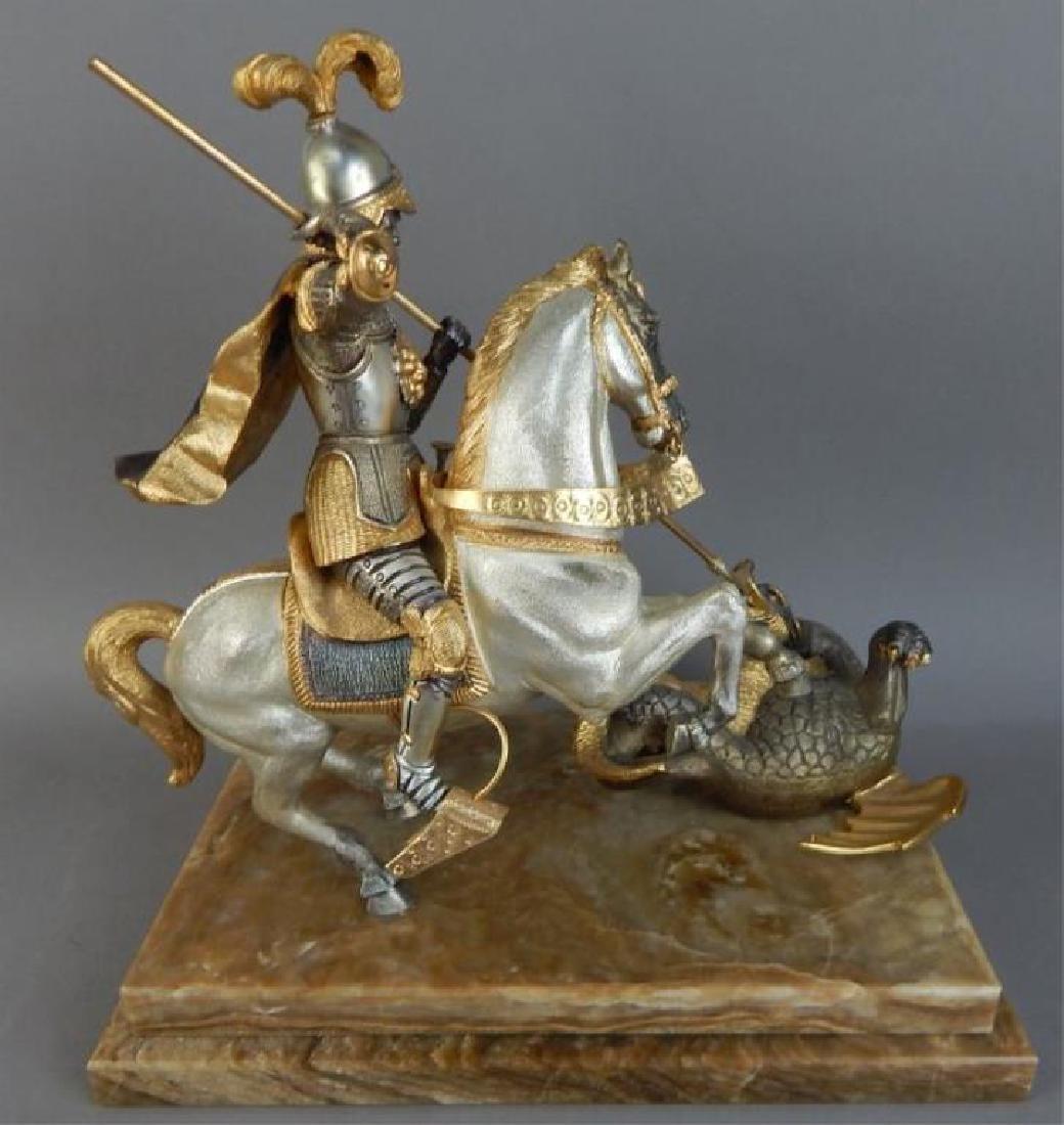 Piero Benzoni Silver & Gold Over Bronze Sclupture - 6