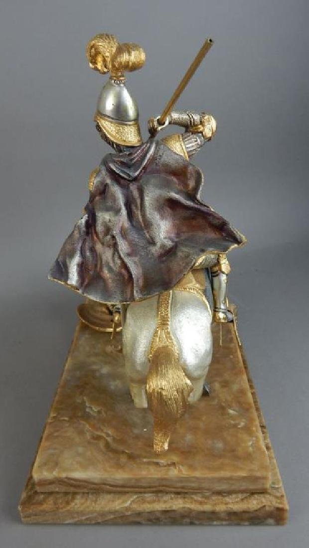 Piero Benzoni Silver & Gold Over Bronze Sclupture - 7