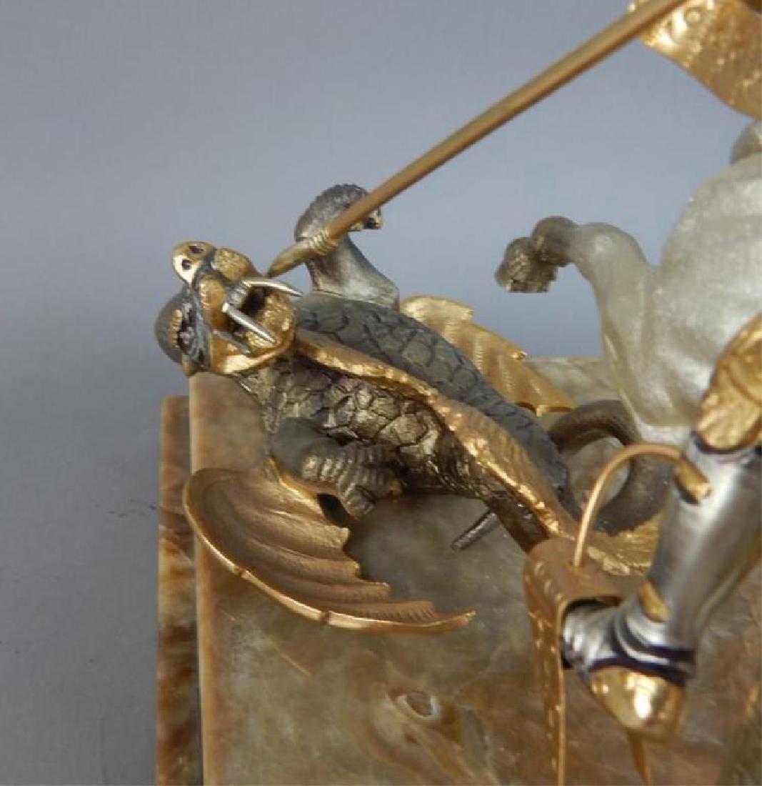 Piero Benzoni Silver & Gold Over Bronze Sclupture - 8