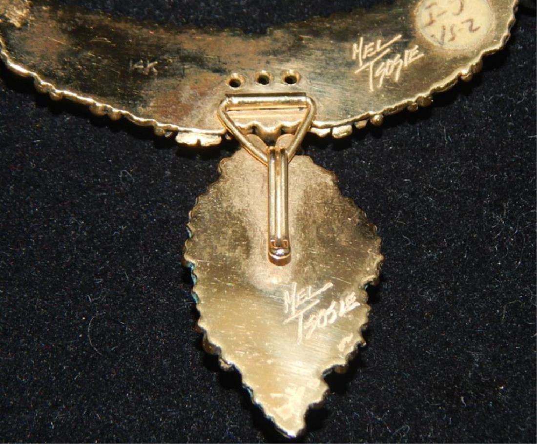Navajo 14k Turquoise & Diamond Necklace & Bracelet - 8