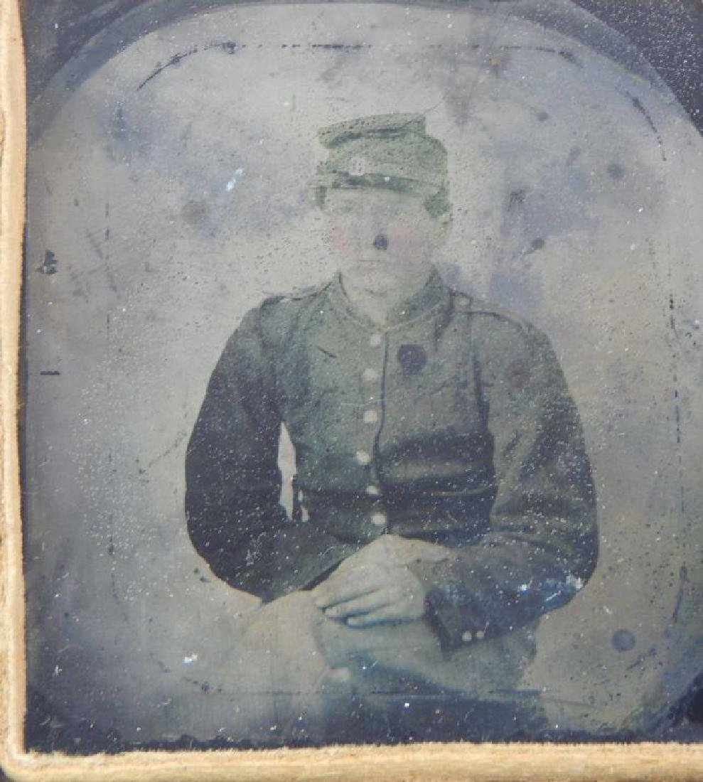 Civil War Daguerreotypes, Medals & Badges in Frame - 4