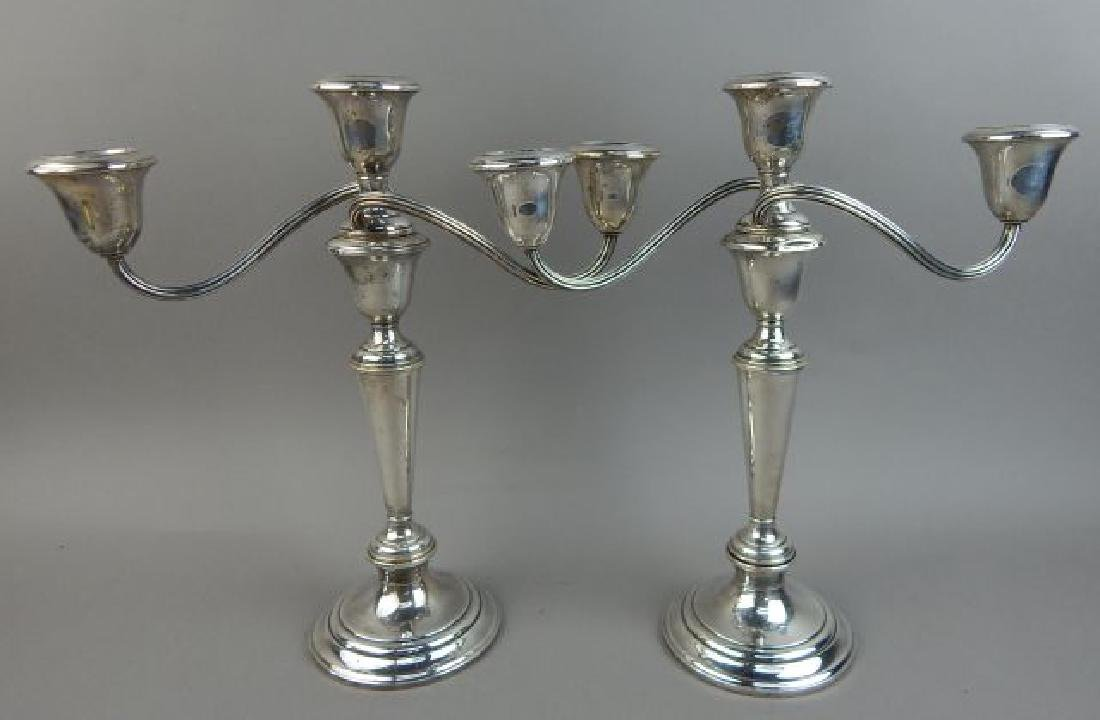 Pair Gorham Sterling Candle Holders