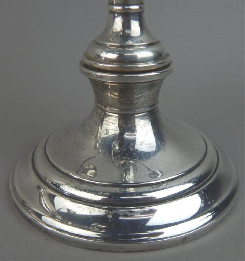 Pair Gorham Sterling Candle Holders - 3