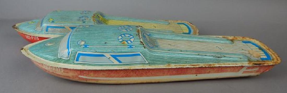 Two Ohio Art Litho Tin Boats - 2