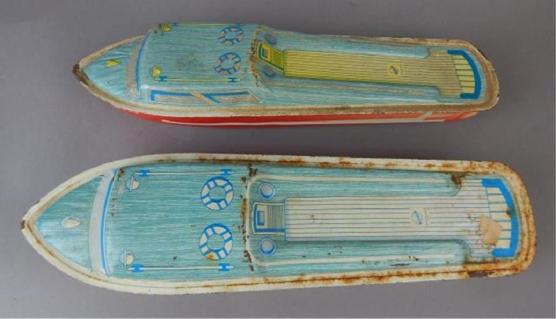 Two Ohio Art Litho Tin Boats - 4