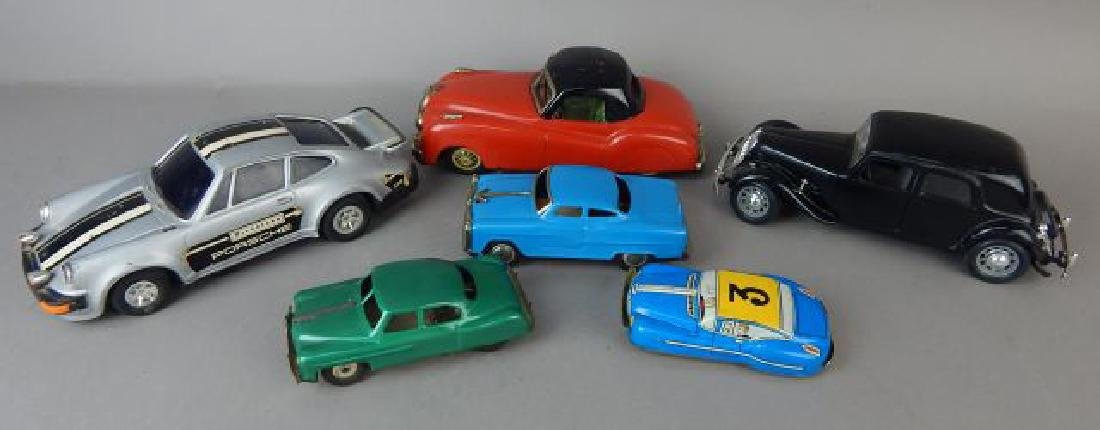 Collection of Six Assorted Metal Cars