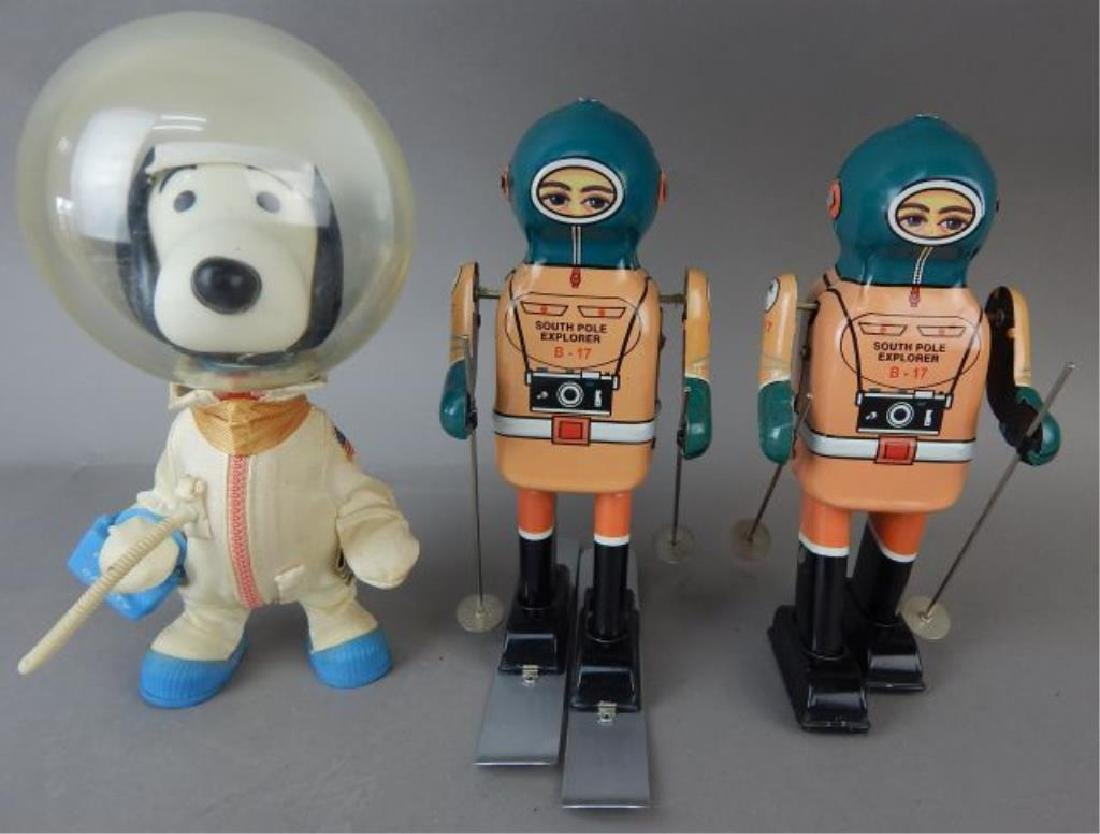 One Snoopy Astronaut & Two So. Pole Explorers