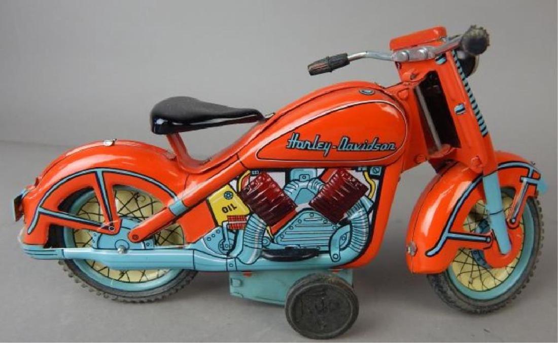 Harley Davidson, Rocket Racer & Sidecar Tin Toys - 2