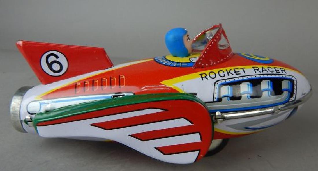 Harley Davidson, Rocket Racer & Sidecar Tin Toys - 4