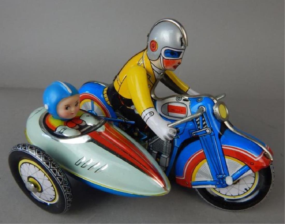 Harley Davidson, Rocket Racer & Sidecar Tin Toys - 7