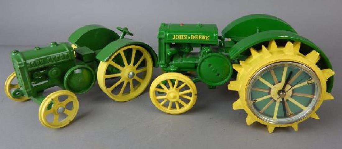 Two John Deere Die Cast and Plastic Tractors