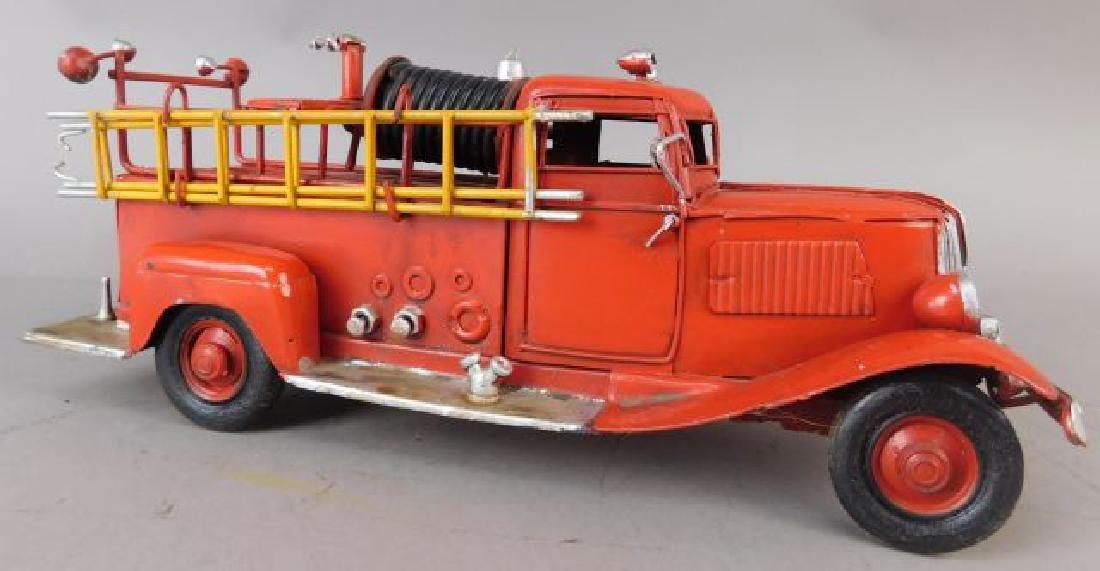 Red Metal Fire Truck